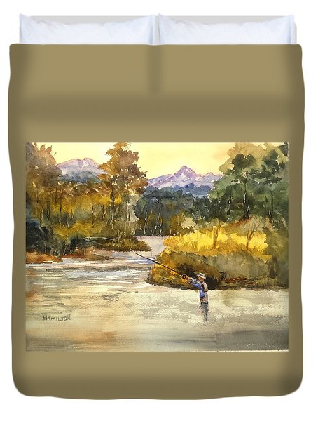 Montana Fly Fishing Duvet Cover