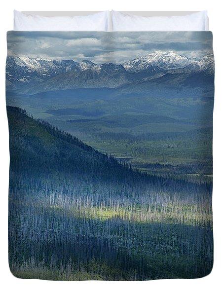 Montana Mountain Vista #3 Duvet Cover
