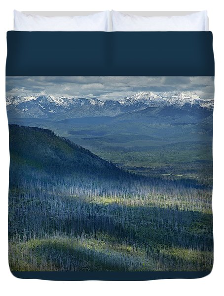 Montana Mountain Vista #3 Duvet Cover