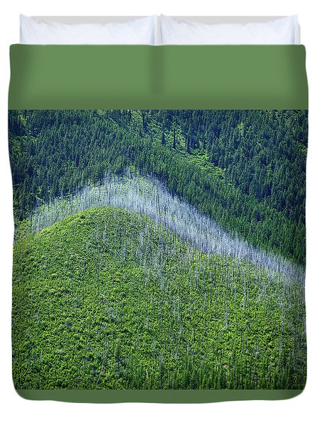 Montana Mountain Vista #4 Duvet Cover