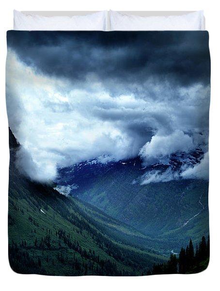 Montana Mountain Vista Duvet Cover