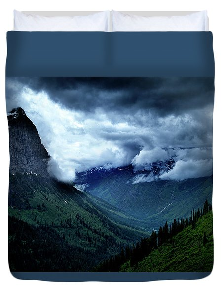 Montana Mountain Vista Duvet Cover