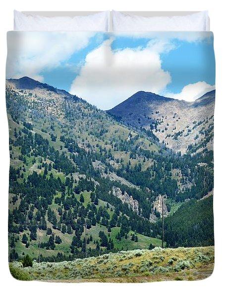 Montana Mountains Duvet Cover