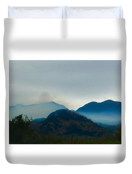 Montana Mountains Duvet Cover by Suzanne Lorenz