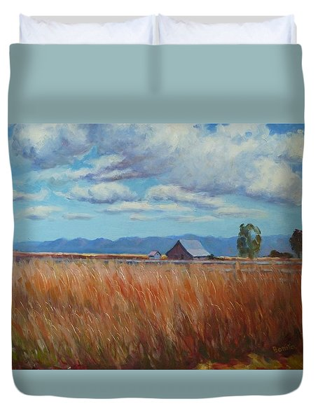 Montana Prairie In The Fall Duvet Cover