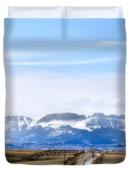 Montana Scenery One Duvet Cover