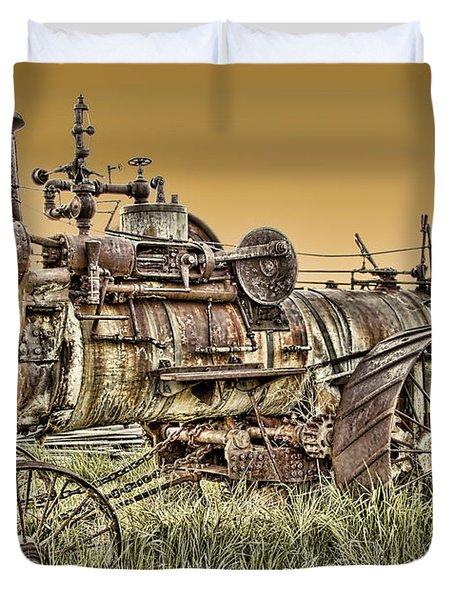 Montana Steam Punk - Nevada City Ghost Town Duvet Cover by Daniel Hagerman