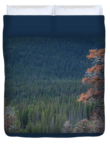 Montana Tree Line Duvet Cover