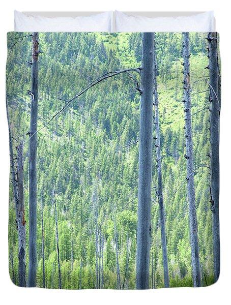 Montana Trees Duvet Cover