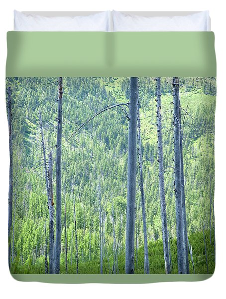 Montana Trees Duvet Cover
