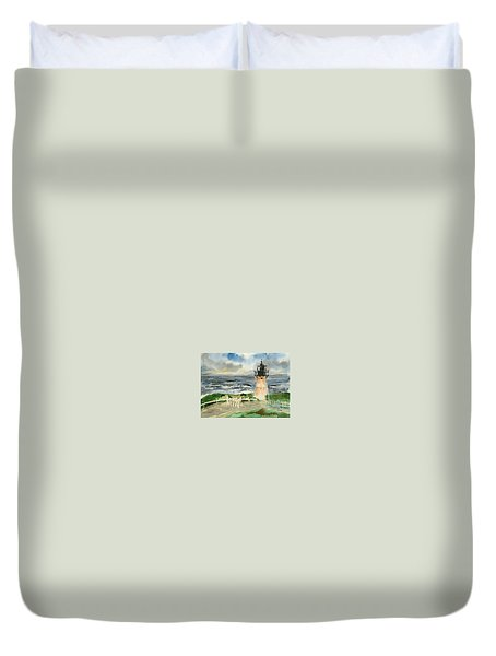 Montara Lighthouse, Plein Air Duvet Cover