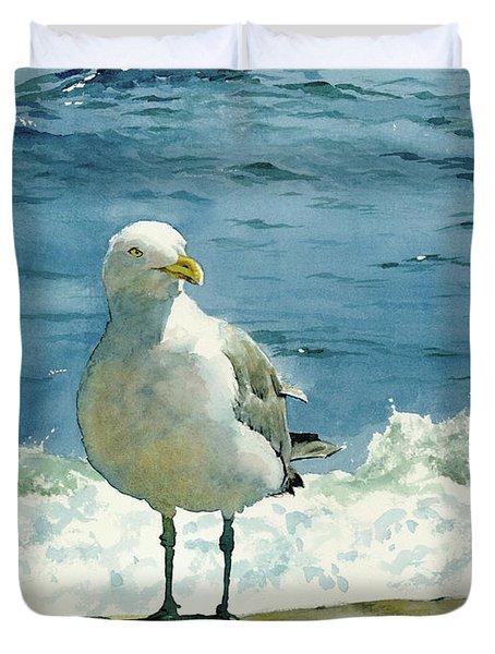 Montauk Gull Duvet Cover