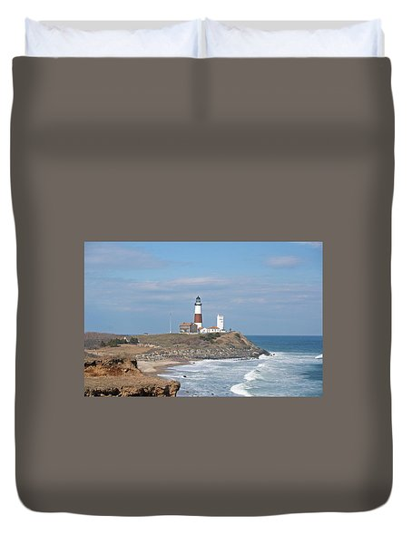 Montauk Lighthouse View From Camp Hero Duvet Cover