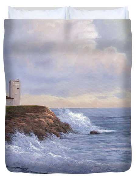 Montauk Point Lighthouse Duvet Cover