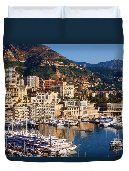 Duvet Cover featuring the photograph Monte Carlo by Tom Prendergast