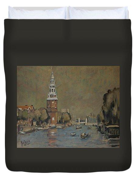 Montelbaanstoren Amsterdam Duvet Cover