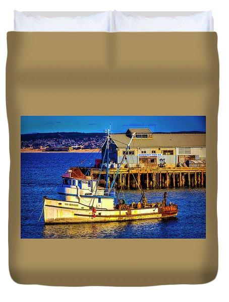 Monterey Bay Fishing Boat Duvet Cover