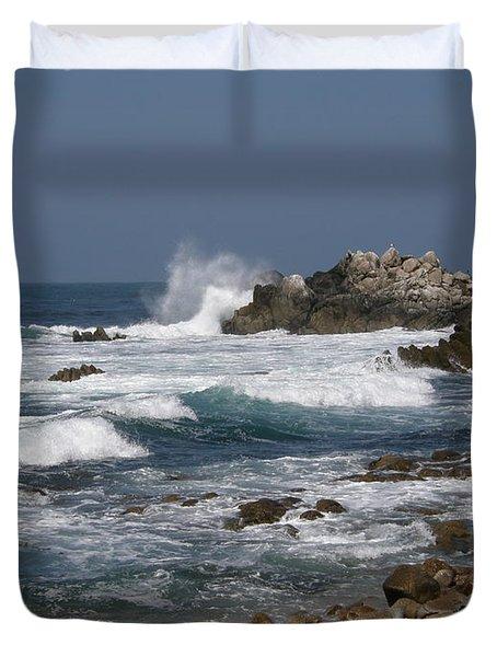 Monterey Coastline Duvet Cover