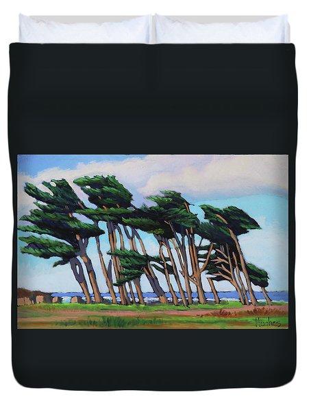 Monterey Cypress Row  Duvet Cover