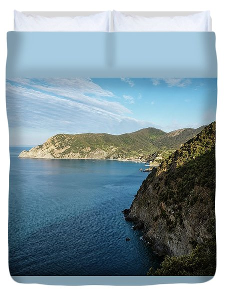 Monterosso And The Cinque Terre Coast Duvet Cover