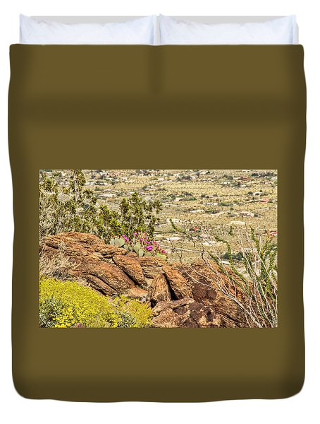 Montezuma Rd Cliff Side Flower Garden Duvet Cover