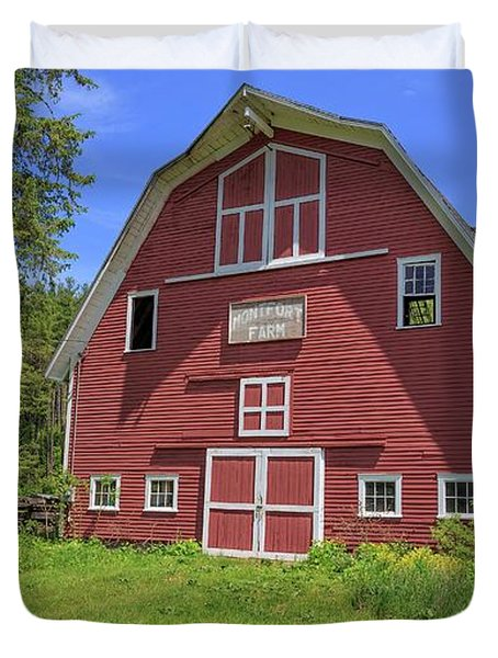 Montford Farm Red Barn Orford New Hampshire Duvet Cover