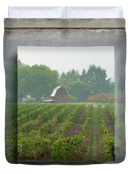 Montinore Winery Duvet Cover