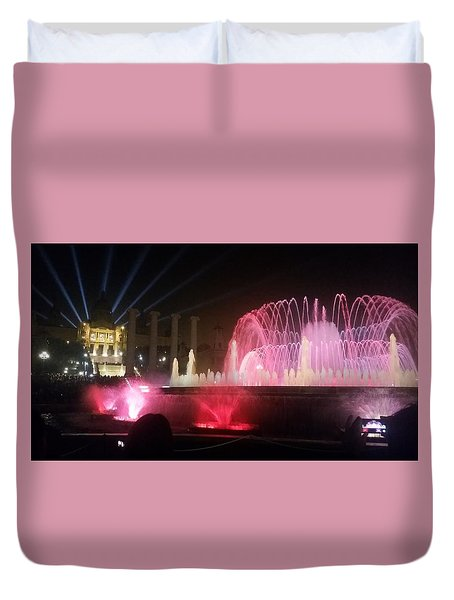 Montjuic Magic Fountain, Spain Duvet Cover