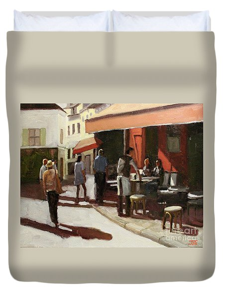 Montmarte Cafe Duvet Cover
