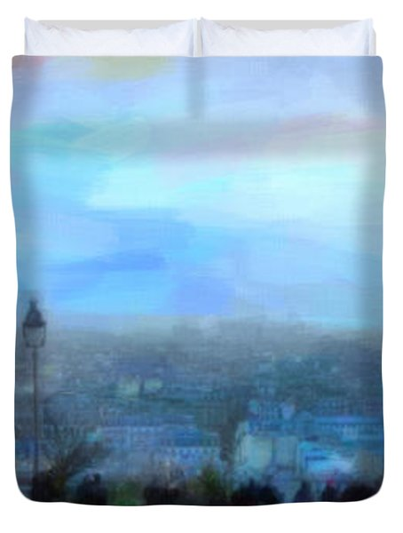 Montmartre From The Butte Duvet Cover