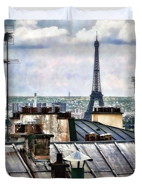 Montmartre Rooftop Duvet Cover