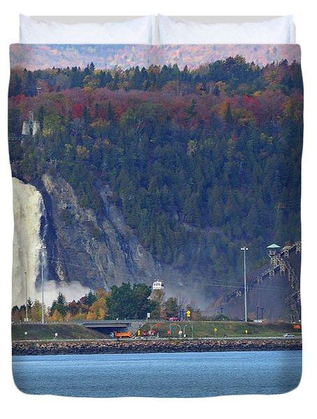 Montmorency Falls Duvet Cover