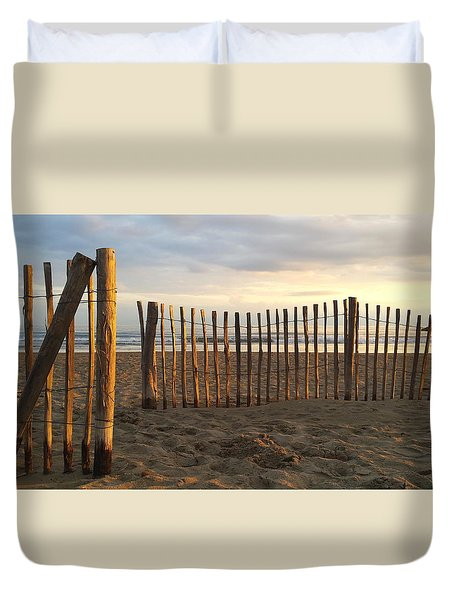 Montpellier France Beach  Duvet Cover by Beryllium Photography
