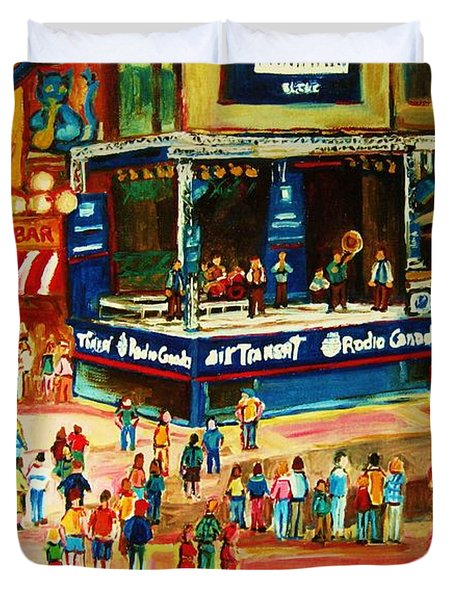 Montreal Jazz Festival Duvet Cover by Carole Spandau