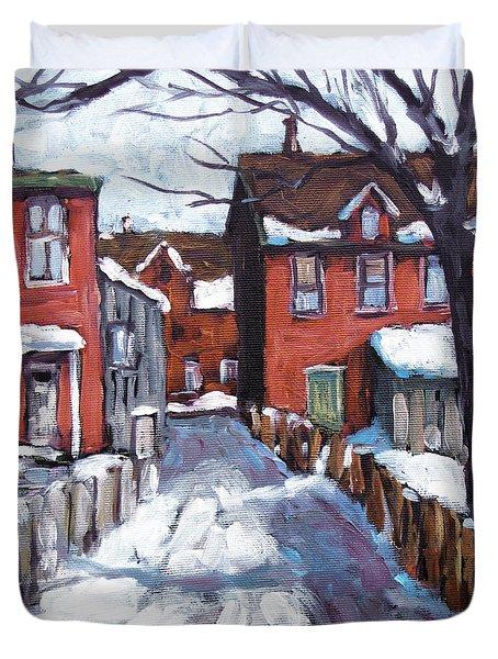 Montreal Scene 02 By Prankearts Duvet Cover by Richard T Pranke