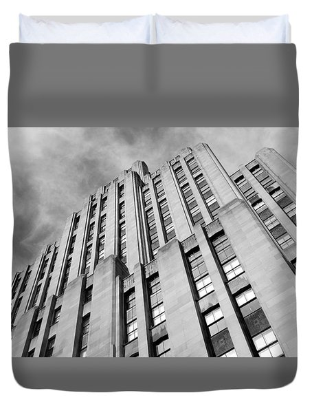 Duvet Cover featuring the photograph Montreal Skyscraper by Valentino Visentini