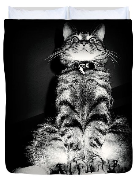 Monty Our Precious Cat Duvet Cover by Jolanta Anna Karolska