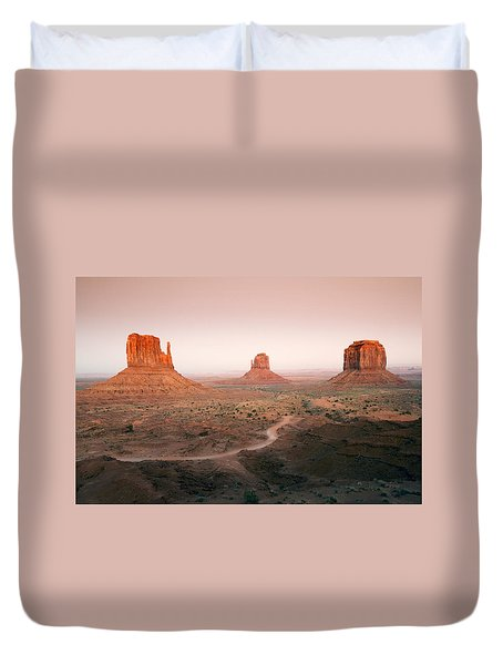 Monument Dusk Duvet Cover by Mike  Dawson