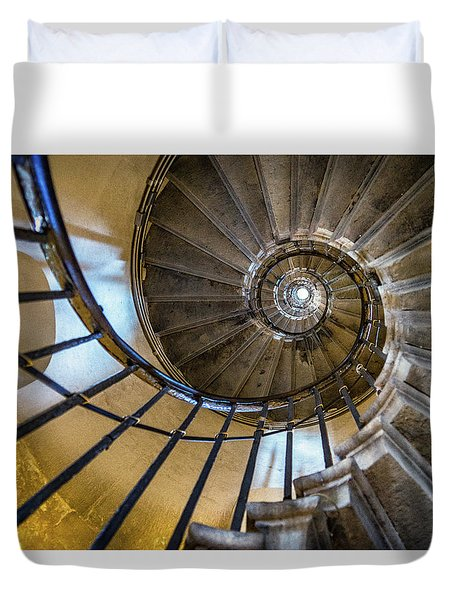 Monument Stairs Duvet Cover by Jae Mishra