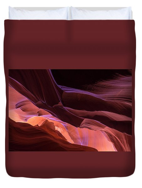 Monument Valley In Pink Duvet Cover