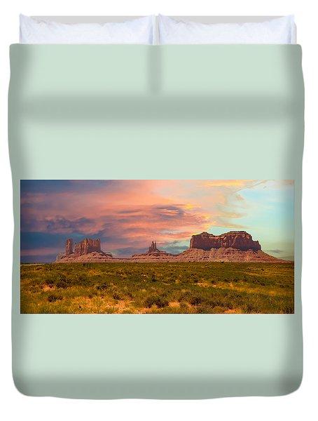 Monument Valley Landscape Vista Duvet Cover