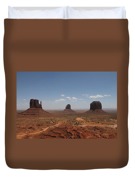 Duvet Cover featuring the photograph Monument Valley Navajo Park by Christopher Kirby