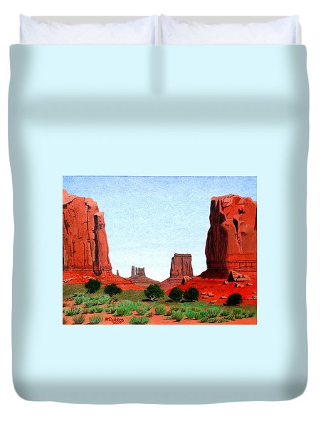Monument Valley North Window Duvet Cover