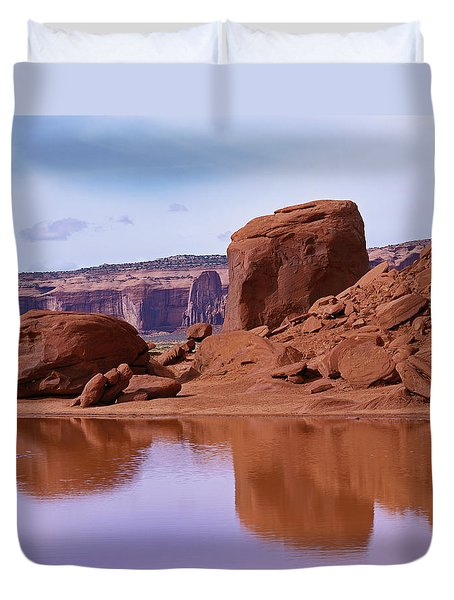 Monument Valley Reflection Duvet Cover