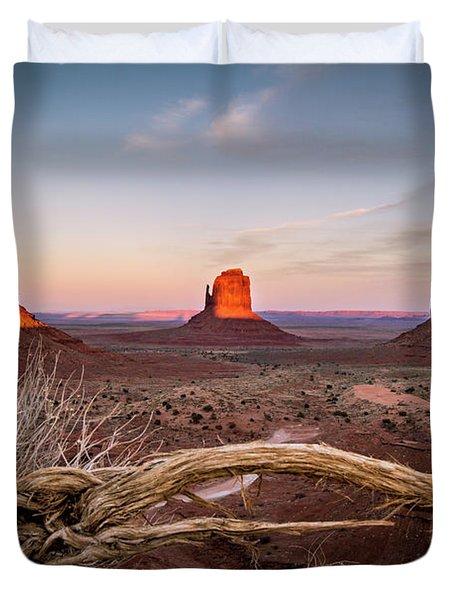 Monument Valley Sunset Duvet Cover