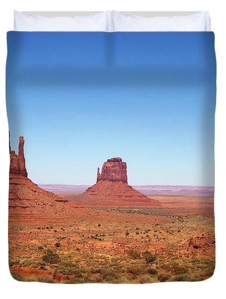 Monument Valley Utah The Mittens Duvet Cover