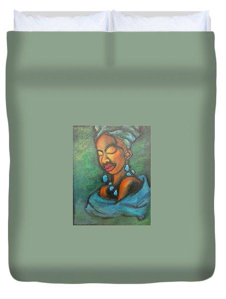 Topaz Duvet Cover by Jenny Pickens