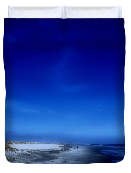 Mood Of A Beach Evening - Jersey Shore Duvet Cover