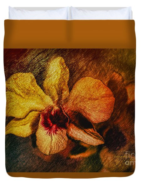 Mood Of The Orchid Duvet Cover