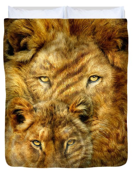 Moods Of Africa - Lions 2 Duvet Cover
